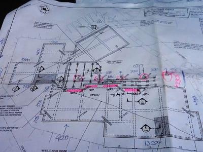 Concrete plans reading